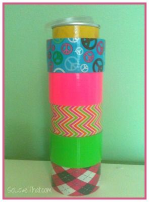 Pringles can -  Here's an idea for organizing your duck tape rolls - a duck tape holder.