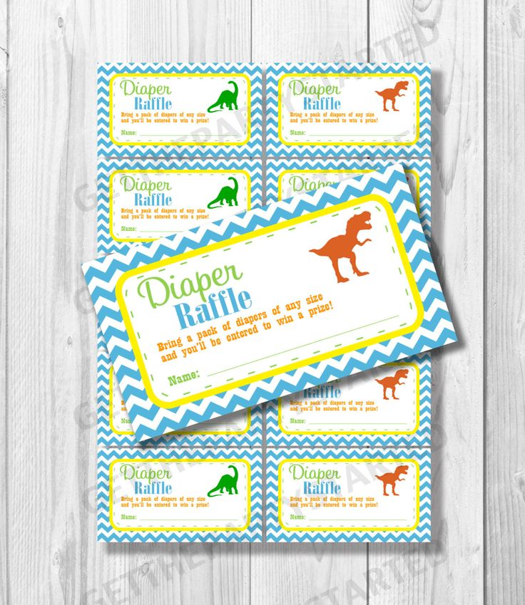 """These printable baby shower diaper raffle tickets will be perfect for your upcoming baby shower! Raffle tickets measure 2""""x3.5"""" and will be available as an instant download once the checkout process i"""