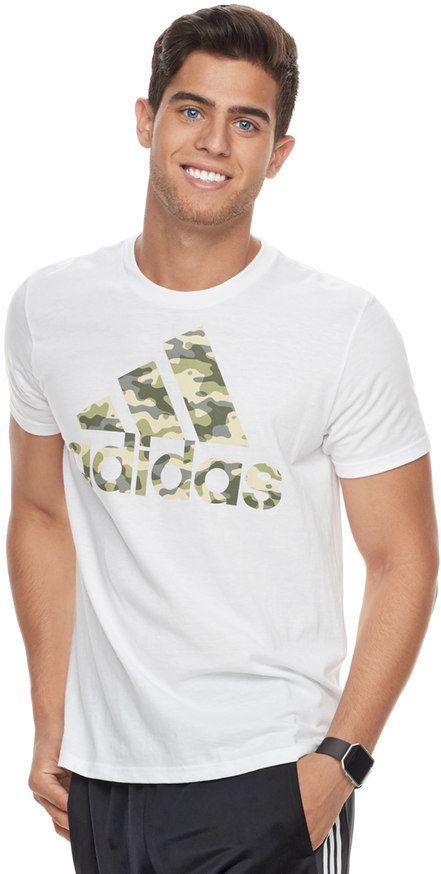 adidas Men's Camouflage Logo Tee