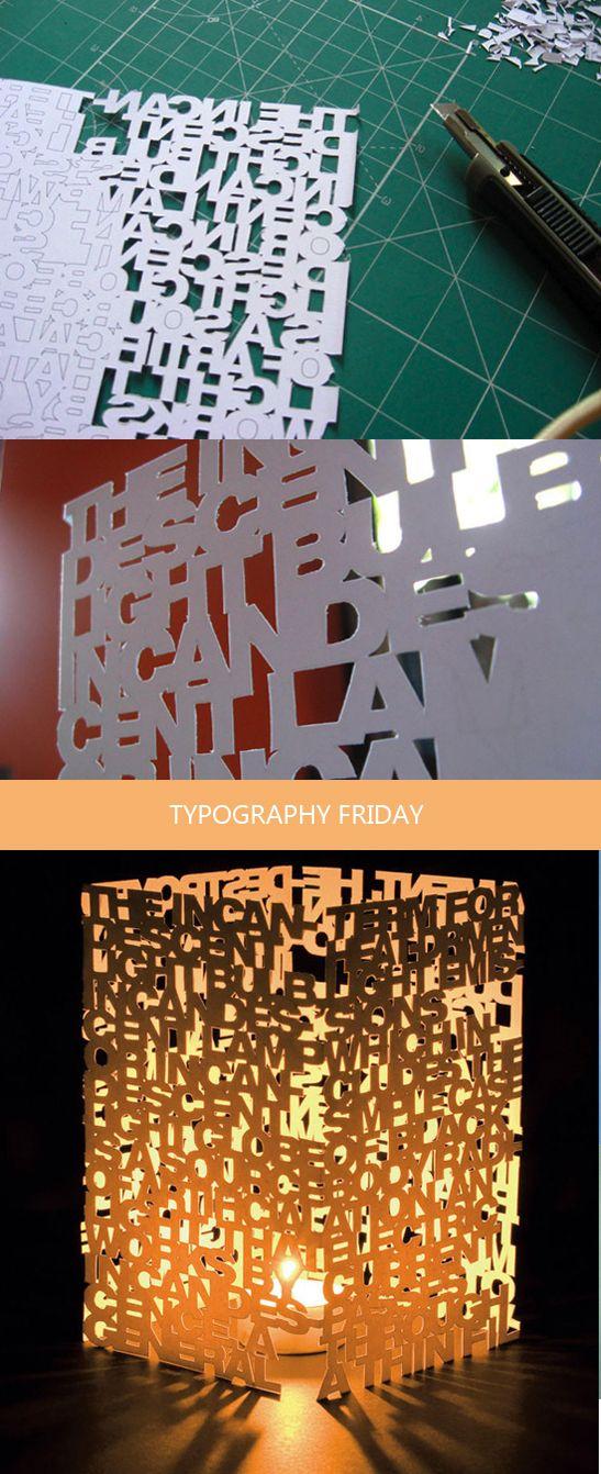 Lampe Typographique
