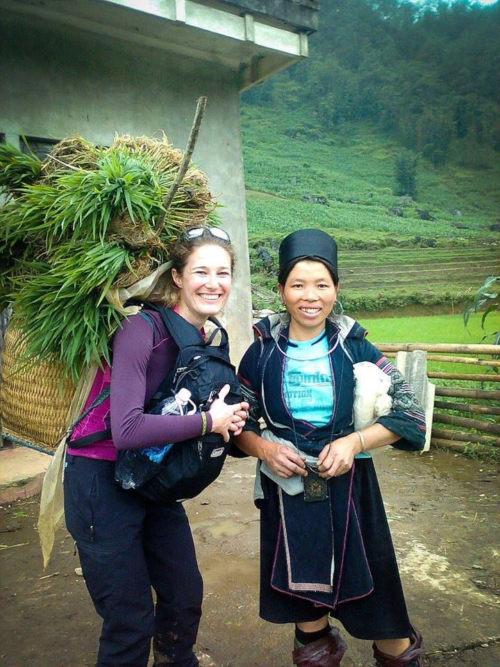 Working on rice fields in Sa Pa mountains!:)
