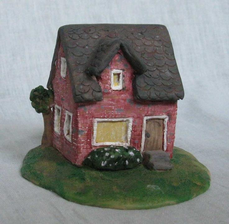 Miniature Brick Home Casitas Piedras Pintadas Y Piedra