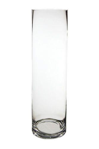 Cylinder-Vase-Glass-Vases-Wholesale-H-18-034-Open-Diameter-5-034-Lot-of-6-pcs