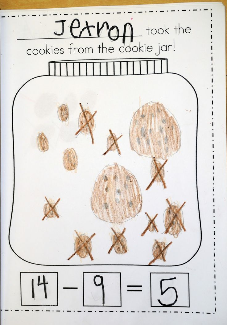 Subtraction Stories: who took the cookie's Class book