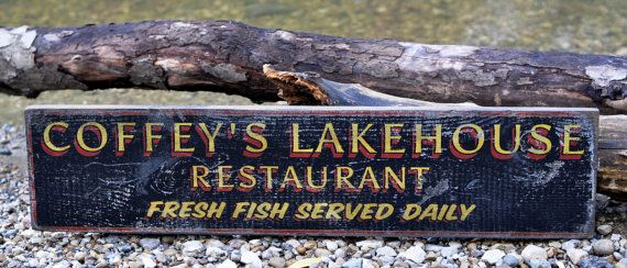 Personalized Lakehouse Restaurant Lake House by TheLiztonSignShop