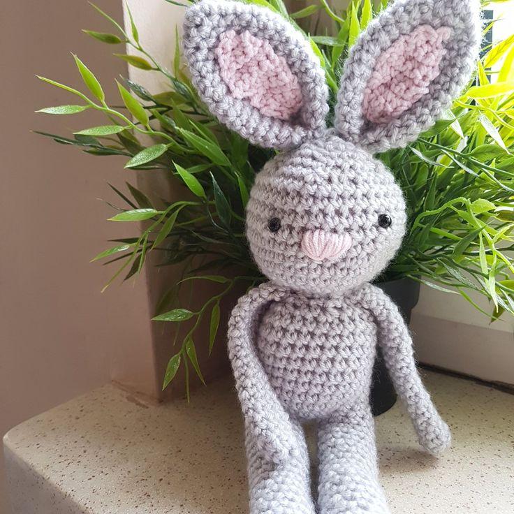Adorable bunny pattern at etsy store byania.etsy.com