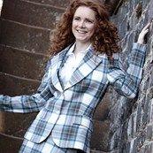 Women's Tartan Jacket 2 Button Fastening in the Stewart Blue Dress tartan