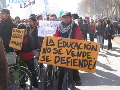 Movimiento estudiantil Santiago de Chile
