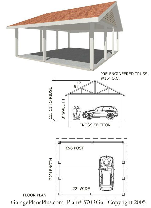 Carport Designs and Plans | This carport plan has a number of options that will let you customize ...