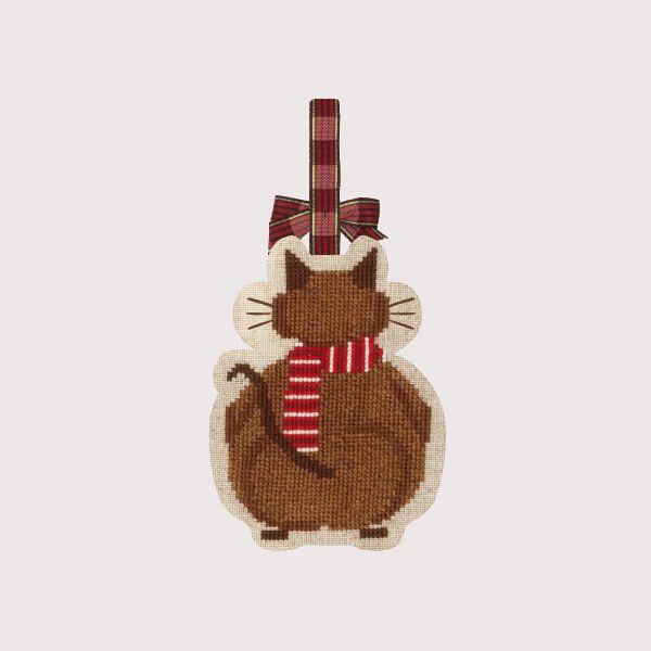 Chat Noël avec l'écharpe Bonheur des Dames réf. 2738 - VERSO