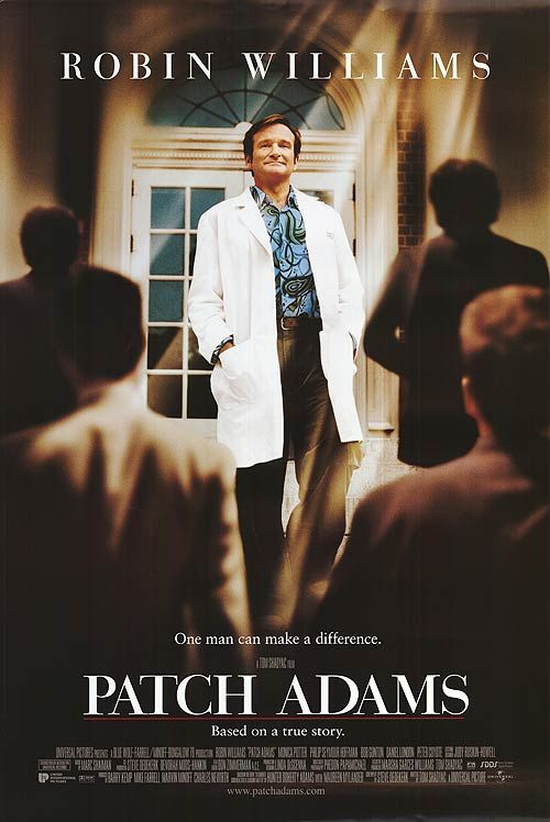 Image result for patch adams movie poster