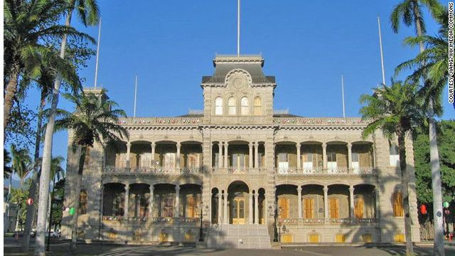 America's only true palace—as in, royalty resided here—was built from 1879 to 1882 in Honolulu by King Kalakua and Queen Kapi'olani. See more photos of the castles: Favorite Places, Honolulu, Palaces, U.S. States, Hawaii, United States