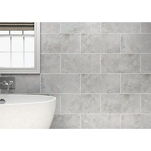 wickes bathroom wall tiles wickes kensington grey effect ceramic wall tile 21662