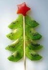 kiwi edible food art for xmas
