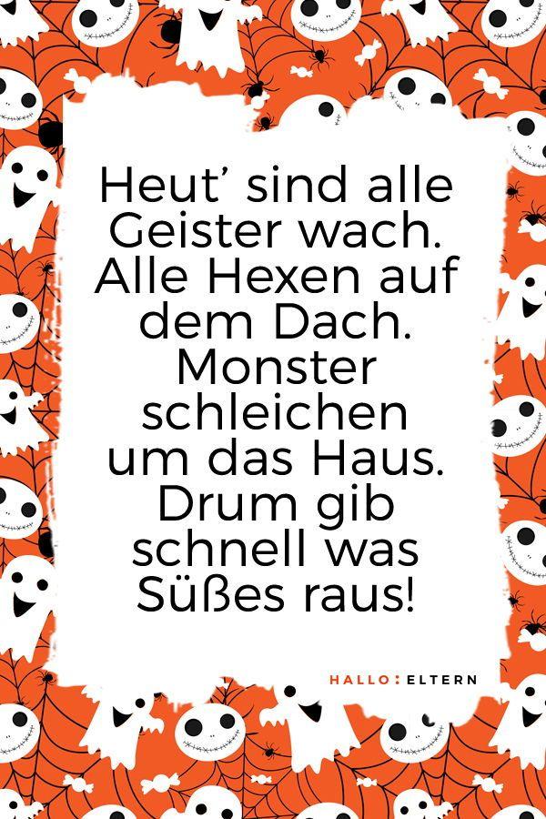 30 Halloween Spruche Fur Kleine Geister Und Monster Halloween Spruche Halloween Happy Halloween