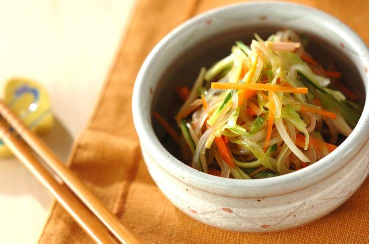 カラフル春雨サラダのレシピ・作り方 - 簡単プロの料理レシピ | E・レシピ