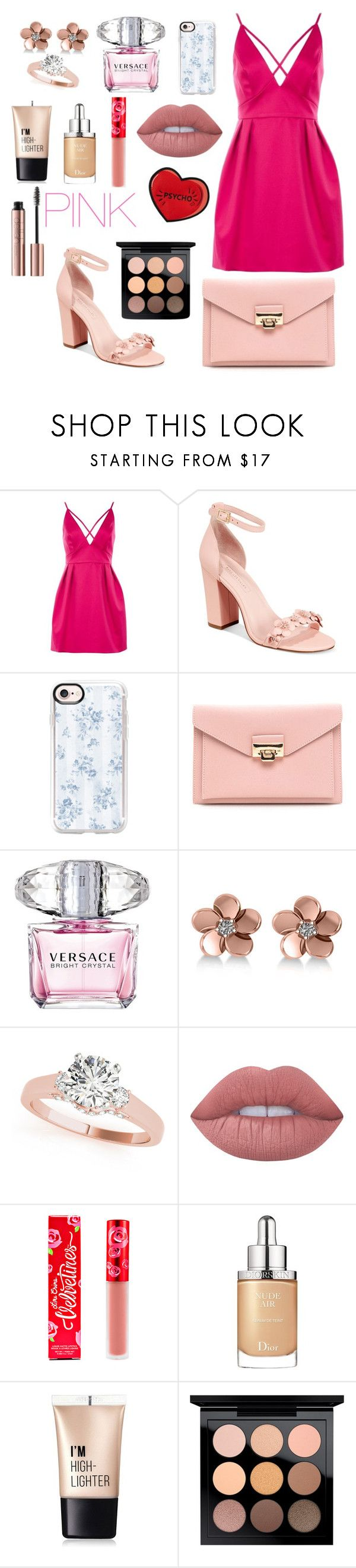 """Untitled #103"" by alexanutella on Polyvore featuring Topshop, Avec Les Filles, Casetify, Versace, Allurez, Lime Crime, Christian Dior, Charlotte Russe and MAC Cosmetics"