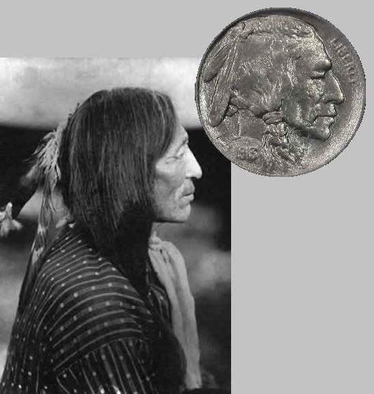 CHIEF Iron Tail OGLALA SIOUX Model for the US Nickel Used 1913-1938