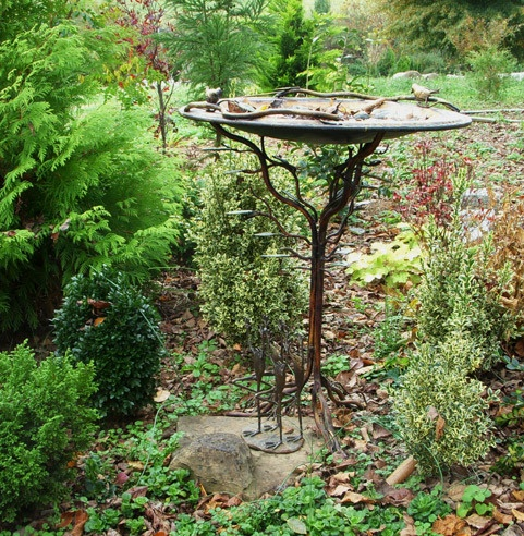 Amazing Bronze Birdbath   Gift Purchased From Gardenerssupply.com