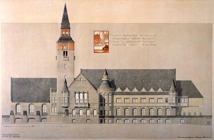 The National Board of Antiquities, Helsinki. Architects Herman Gesellius, Armas Lindgren ja Eliel Saarinen 1904.