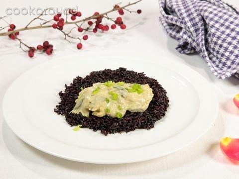 Filetto di spigola al curry su riso venere   Cookaround