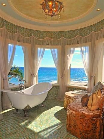 High-end appeal with spectacular views #bathroom