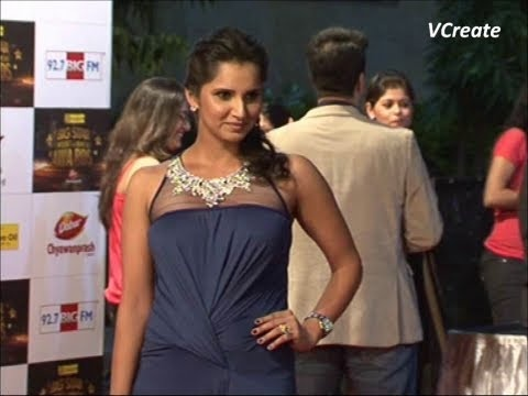 sania mirza spotted at big entertainment awards 2012.