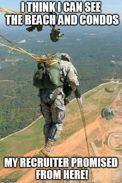 Airborne Army, Military Humour