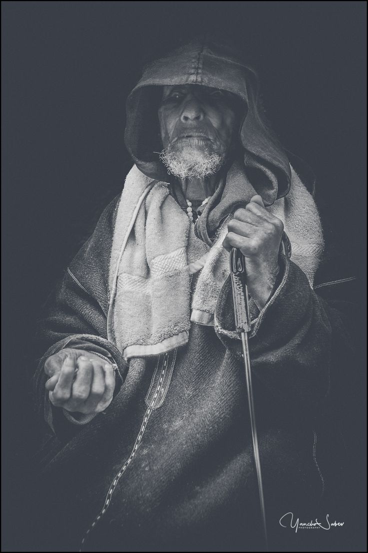 An artsy portrait of a blind old man from Marrakech. I saw him on the street. He did't noticed my existence at all.