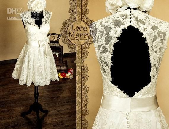 Wholesale empire line wedding dresses uk, tea line wedding dresses and top of the line wedding dresses on DHgate.com are fashion and cheap. The well-made 2015 modest cheap price short ivory lace v-neck backless bow knee length short wedding dresses custom made high quality free shipping sold by alberta_dress is waiting for your attention.