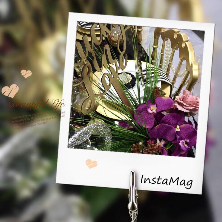 Wedding flower, purple gold