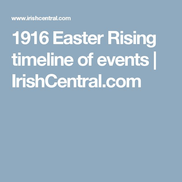 1916 Easter Rising timeline of events | IrishCentral.com