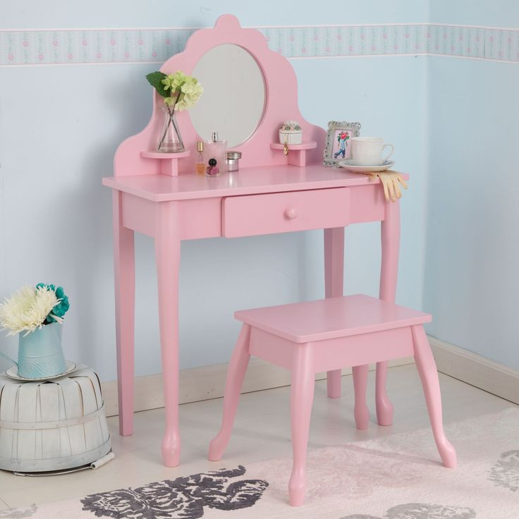 KidKraft Medium Diva Table U0026 Stool  Pink   13023
