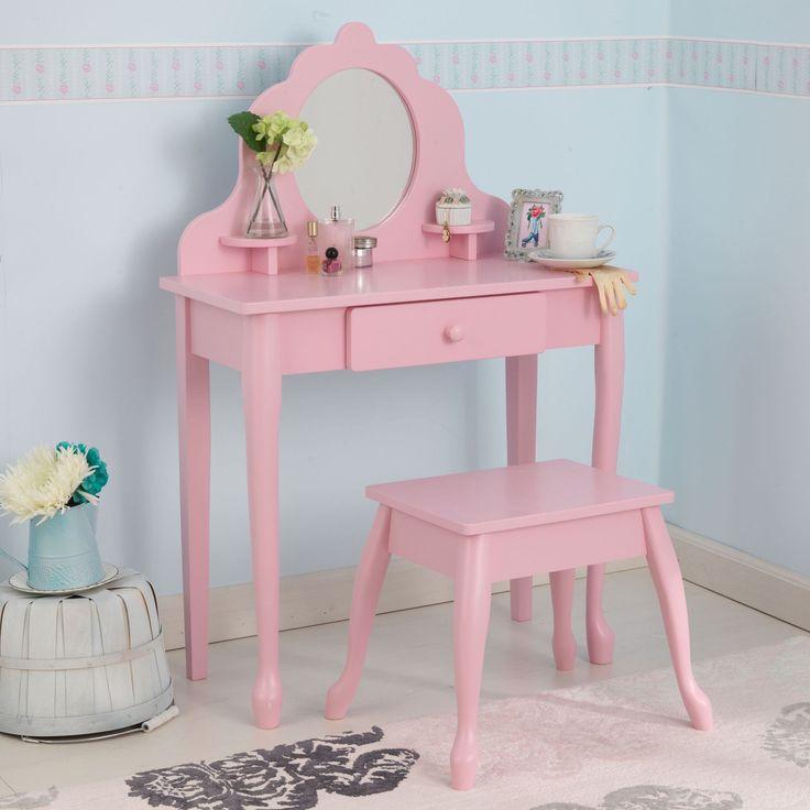 KidKraft Medium Diva Table & Stool- Pink - 13023 -  Kid Kraft Pretend Play - Nurzery.com