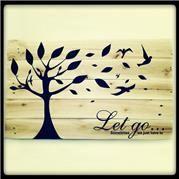 Let go Pallet Art. 50cmx50cm or 1mx1m