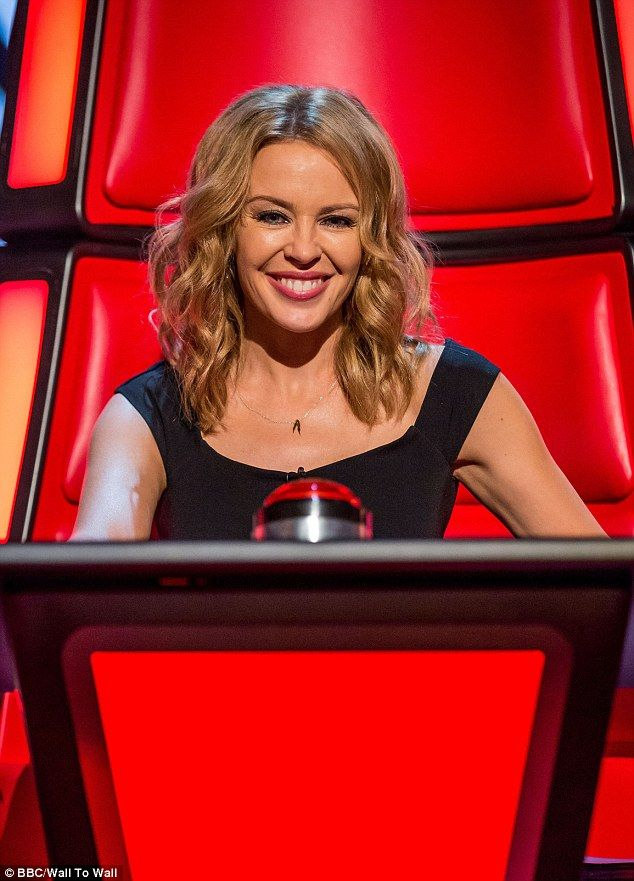 Upset: Kylie Minogue has been getting teary during tough decisions on the talent show
