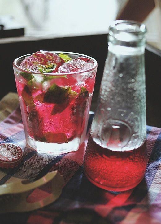 Campari Soda with Mint