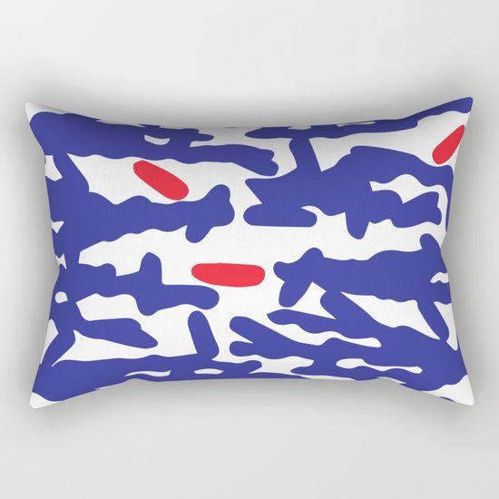 Pahlavani Creative beautiful prints, #pillow #pattern #tropical, #coral, #pahlavanicreative #dots #red #white #blue
