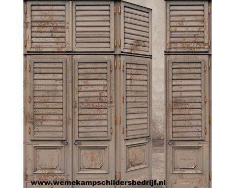Riviera Maison, behangboek, vliesbehang, behang, rotan, hout, riet. 30603; fotobehang; panels; louvre deuren