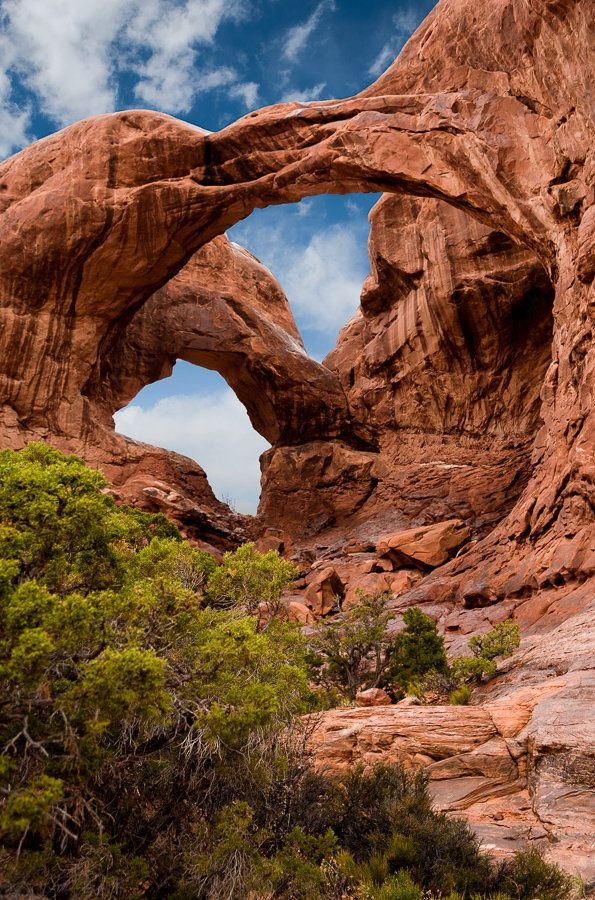 Double Arch in Arches National Park near Moab Utah