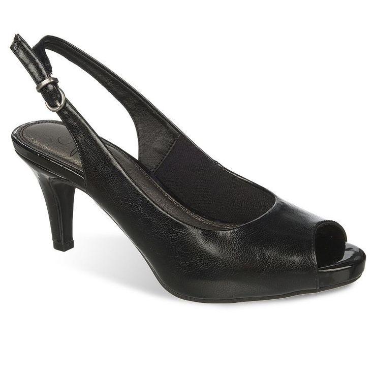 LifeStride Teller Women's Slingback Dress Heels, Size: medium (9.5), Black