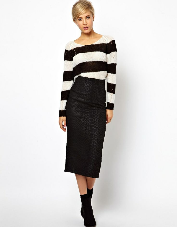 68 best Long Pencil Skirts images on Pinterest
