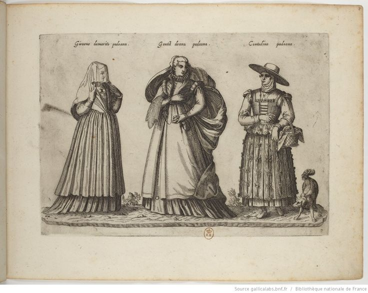 Foreign Costume Series | Jean-Jacques Boissard | 1581 | Bibliothèque nationale de France | Ref.: 4-OB-26 | Young woman to be married, Paduan women