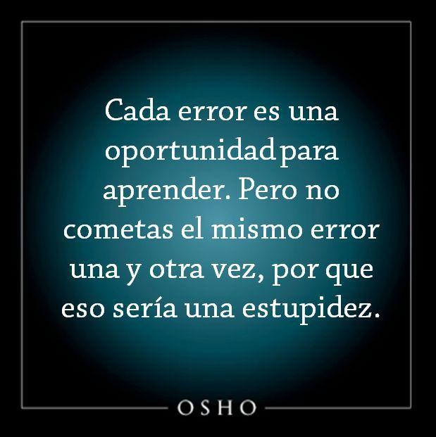Convierte cualquier error en una oportunidad.