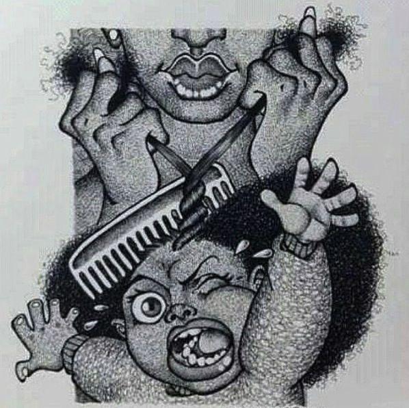 Black Girl Natural Hair Drawing