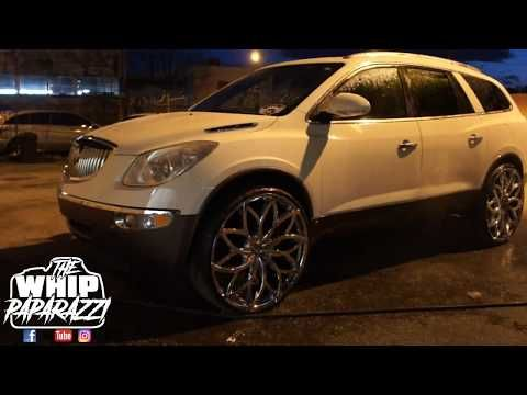 Buick Enclave Cxl On 28 Chrome Azara Aza 504 Wheels Lifted By Kc Custom Lifts Youtube Buick Enclave Buick Enclave