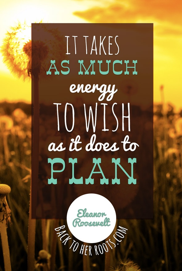 It takes as much energy to wish as it does to plan. ~ Eleanor Roosevelt #entrepreneur #entrepreneurship #quote