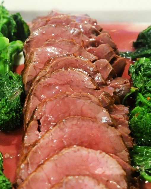 Whole Roasted Beef Tenderloin with Red-Wine Butter Sauce | Recipe