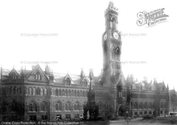 Bradford, Town Hall 1891, from Francis Frith