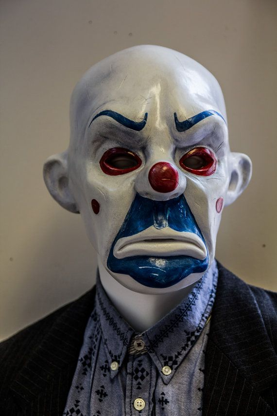 Bozo Joker mask 1:1 Dark Knight TDK Mask Prop by Ministryofmasks
